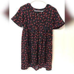 Cherry Print Smock Dress